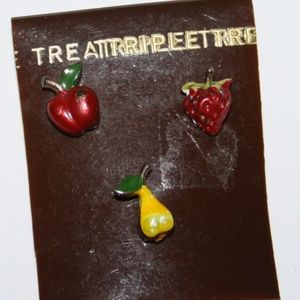 Vintage fruit pins
